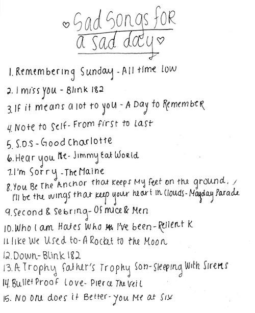 Handwritten playlist